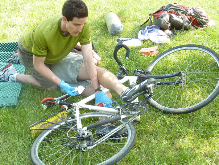 Treating a bicycle crash victim